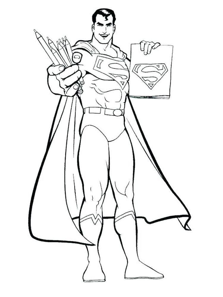 print superman coloring pages