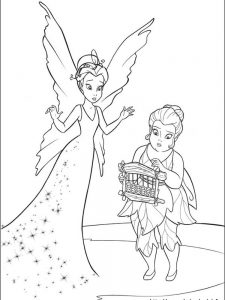 print tinkerbell coloring pages