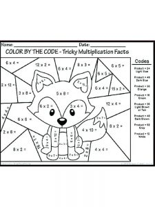 printable addition coloring pages