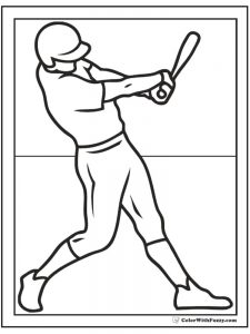 printable baseball bat coloring pages