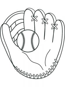 printable baseball glove coloring pages