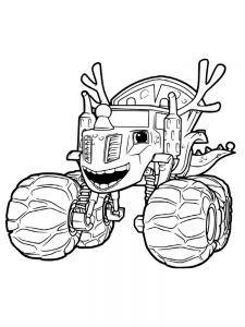 printable blaze and the monster machines characters coloring pages
