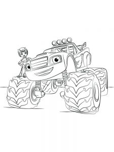 printable blaze and the monster machines coloring pages 028