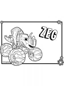 printable blaze and the monster machines coloring pages free printable
