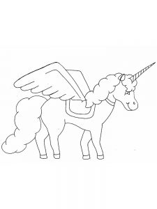 printable coloring book pages unicorn