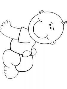 printable coloring page of baby