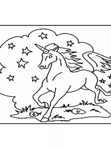 printable coloring pages of a unicorn