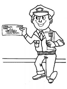 printable community helper coloring pages