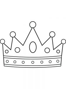 printable crown coloring pages