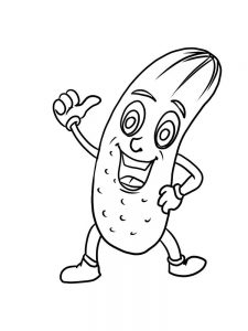 printable cucumber coloring pages free download