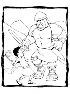 printable david and goliath coloring pages