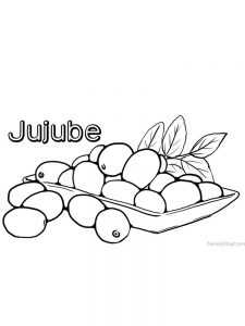 printable jujube coloring images free