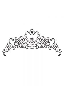 printable princess crown coloring pages