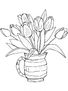 printable spring flowers coloring pages free