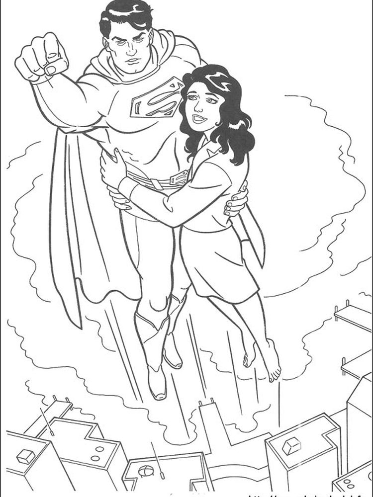 printable superman coloring pages