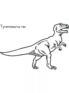 printable t rex coloring pages