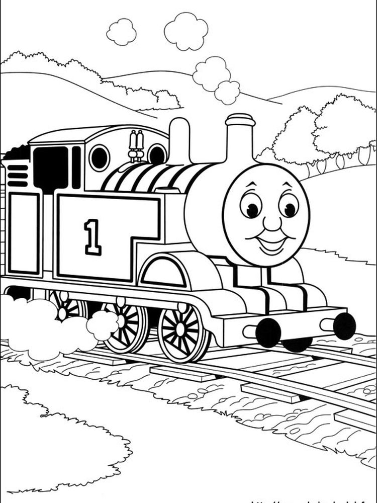 printable thomas the train coloring pages