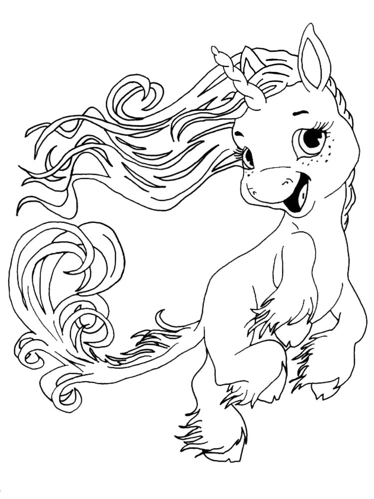 printable unicorn coloring pages for free