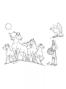 printable wild horse coloring pages