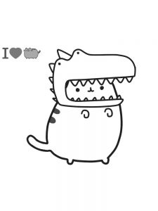 pusheen coloring pages 1
