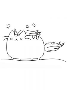 pusheen coloring pages birthday 1