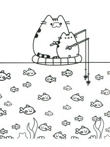 pusheen coloring pages christmas 1
