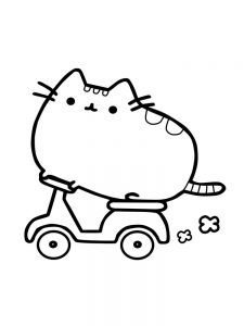 pusheen coloring pages easy 1
