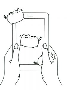 pusheen coloring pages free printable 1