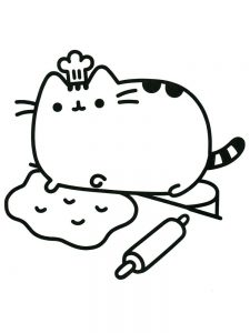 pusheen coloring pages halloween