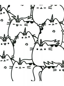 pusheen coloring pages online free 1