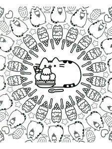 pusheen coloring pages pdf 1