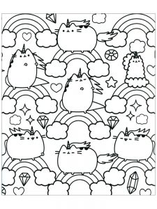 pusheen coloring pages printable 1