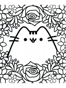 pusheen coloring pages summer 1