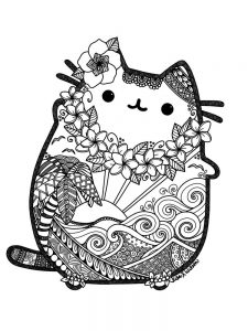 pusheen coloring pages to print 1