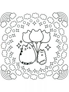 pusheen coloring pages unicorn 1