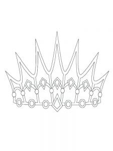 queen crown coloring pages