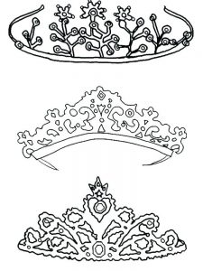 queens crown coloring pages