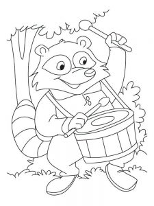 raccoon coloring page image free