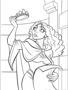 rapunzel coloring page free