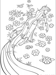 rapunzel coloring pages easy