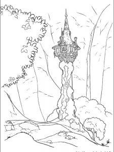 rapunzel coloring pages free