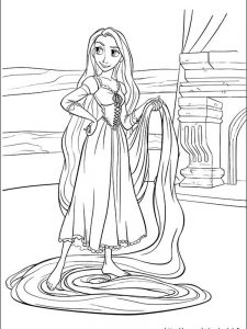 rapunzel coloring pages free printable