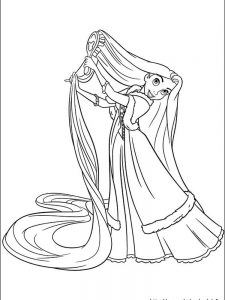 rapunzel coloring pages printable