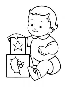 real baby coloring pages pdf