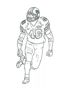 real football player coloring pages