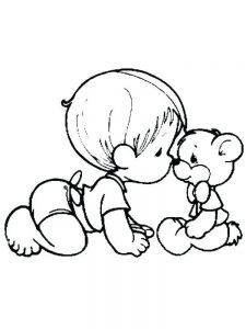 realistic baby coloring pages pdf