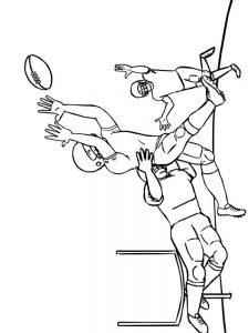 realistic football player coloring pages