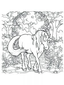 realistic unicorn coloring pages printable