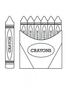 red crayon coloring pages