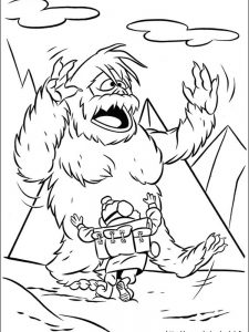 red nosed reindeer coloring page pic